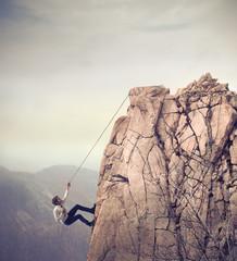 Fototapeta Businessman Climbing