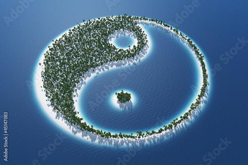 Fényképezés  Yin und Yang - Insel Konzept 3