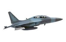 Military Jet Plane Isolated White