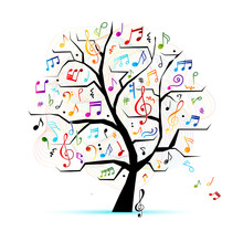 Abstract Musical Tree For Your...