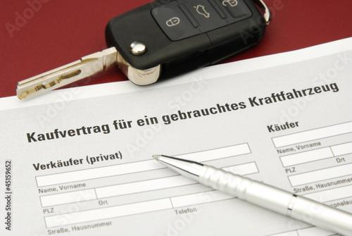 Kaufvertrag Auto Gebrauchtwagen Privat