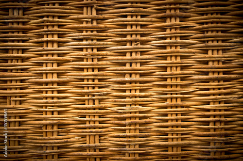 Fotografía  Brown wicker texture background made from basket