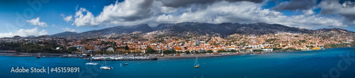 Fotografie, Obraz  Funchal capital city of Madeira view from the sea