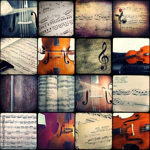 Plakat na zamówienie Collage - Music