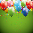 Green birthday background
