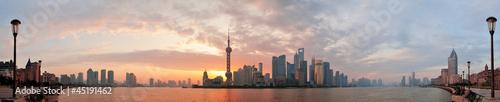 Foto op Aluminium Shanghai Shanghai morning skyline silhouette