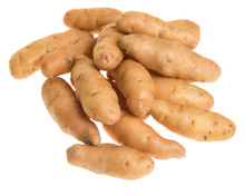 Fingerling Potatoes Isolated O...