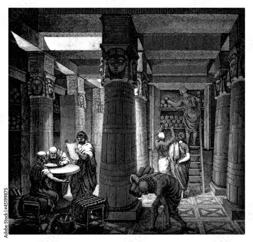 Fototapeta Alexandria : Library - Bibliotheque - Antiquity Egypt