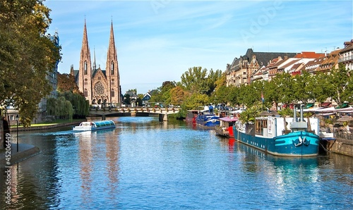 Obraz na plátne Strasbourg, quai des Bateliers.