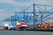 canvas print picture - Hafen Rotterdam