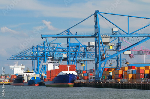 Spoed Foto op Canvas Rotterdam Hafen Rotterdam
