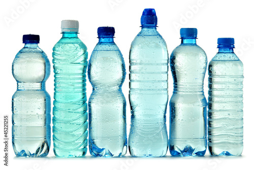 Fotografia, Obraz  Polycarbonate plastic bottle of mineral water isolated on white