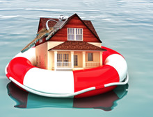 Home Floating On A Life Preser...