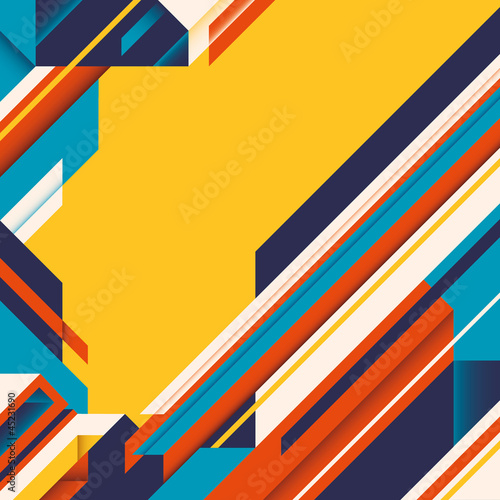 Abstraction with colorful geometric shapes. Wallpaper Mural