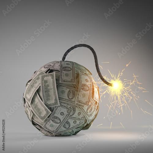 Photo  Financial crisis bomb