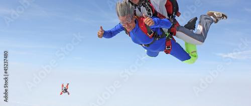 Fotografia, Obraz Saut en parachute en tandem