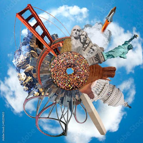 Nowoczesny obraz na płótnie Etats-unis d'Amérique - Monuments - Concept