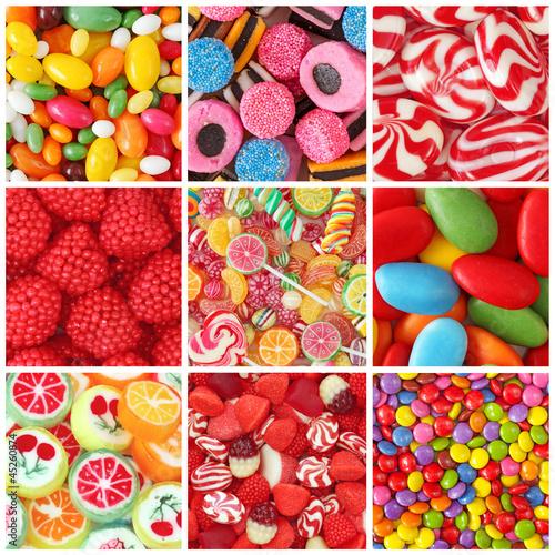 Foto op Aluminium Snoepjes Sweets