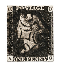 Victorian GB Penny Black Mail ...