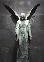 Monument Of Old Angel On Cemet...