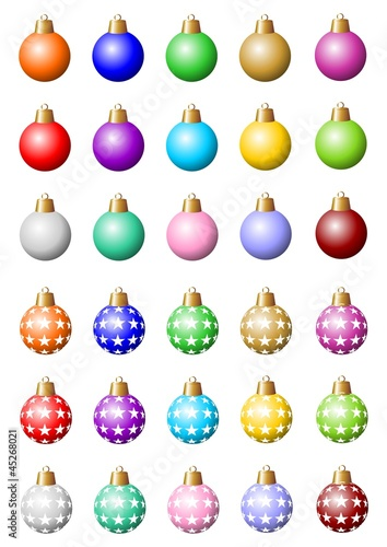 Bunte Christbaumkugeln Shop.Diverse Bunte Christbaumkugeln Buy This Stock Vector And