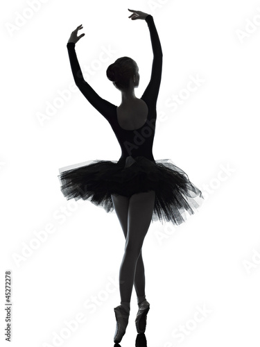 young woman ballerina ballet dancer dancing Wallpaper Mural