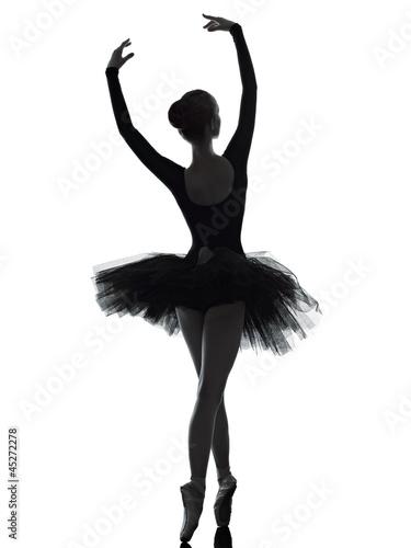 Obraz na plátně young woman ballerina ballet dancer dancing