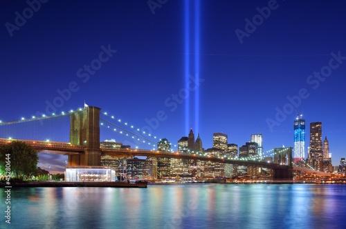 Manhattan Skyline and Tribute in LIght