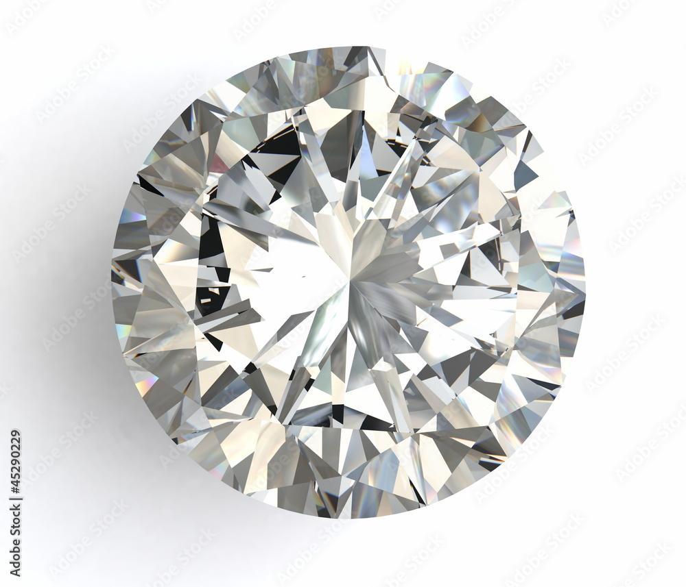 Fototapeta diamond on white background with high quality