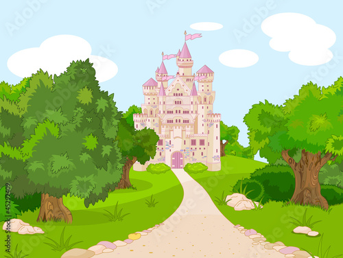Canvas Prints Castle Castle on hill