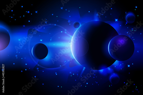 Abstract Deep Space Background - 45302827