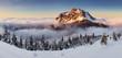 Mountain peak at winter - Roszutec - Slovakia mountain Fatra