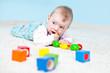 canvas print picture - Baby spielt