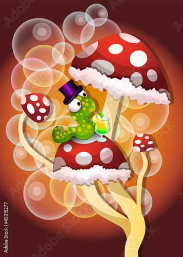 Cadres-photo bureau Monde magique Mushrooms, illustration