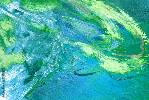 Abstract painting by oil on canvas, illustration, background Canvas Print