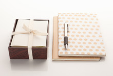 Notebooks With A Box Of Cards