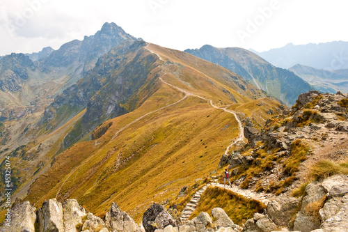 View from Kasprowy wierch in Tatra mountains