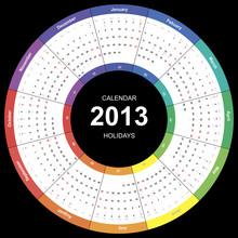 Vector Calendar 2013 Round Wut...