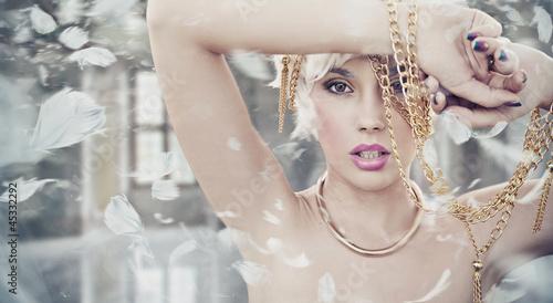 Fotografie, Obraz  Portrait of a sexy blonde beauty