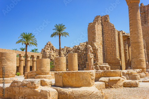 Foto op Canvas Egypte Ancient ruins of Karnak temple in Egypt