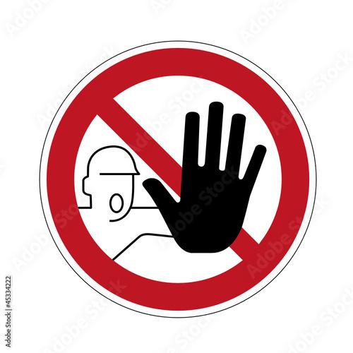 Fotografía  Schild Betreten verboten