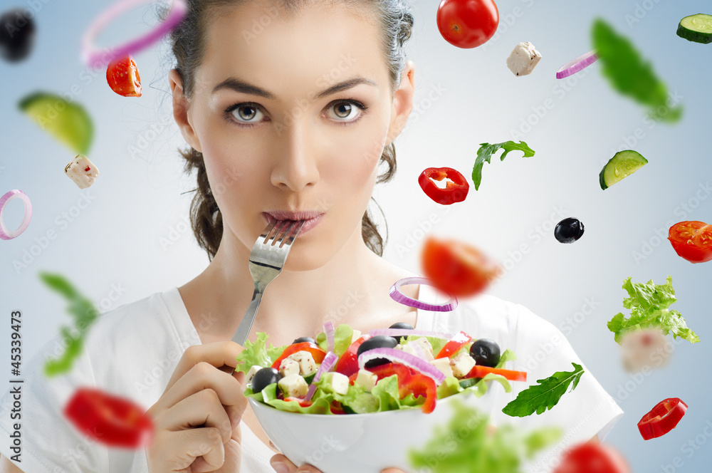 Fototapeta eating healthy food