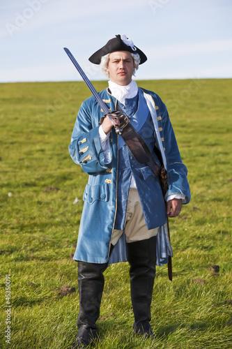 Fotografie, Obraz  18th century British army infantry Redcoat uniform