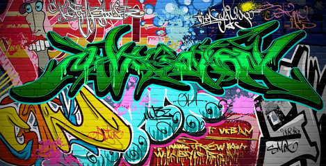Graffiti Art Vector Backgro...