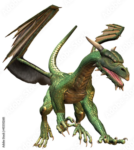 La pose en embrasure Dragons Green Fantasy Dragon