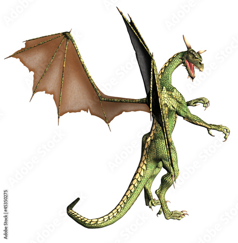 Staande foto Draken Green Fantasy Dragon