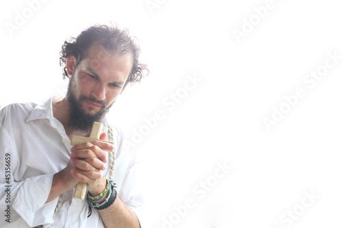 Fényképezés Man praying in daylight