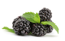 Beautiful Blackberries With Le...