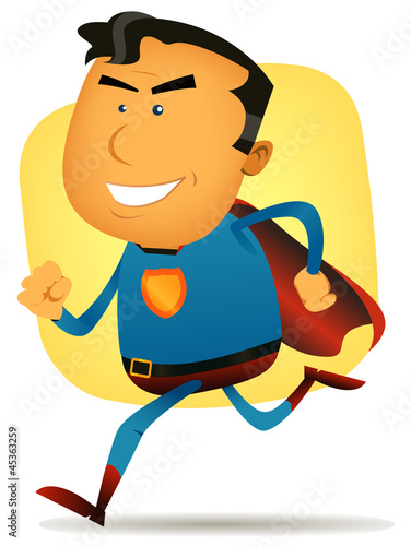 Poster Superheroes Comic Superhero Running