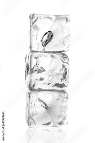 Poster Dans la glace Eiswürfel